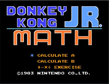 Donkey Kong Junior Math